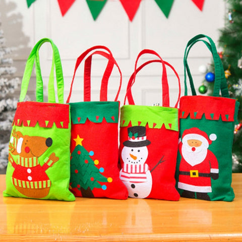 Merry Christmas Santa Sack Gift Bags Snowman  Decoration for New Year Xmas  Candy Bag Handmade Christmas Gift Bag