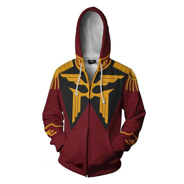 MOBILE SUIT GUNDAM Costumes GUNDAM Sweatshirts Cosplay 3D Printed zip Sweatshirt Men's fashion Cartoon hooded sweater Jackets