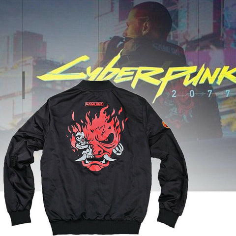 2020 Game Cyberpunk 2077 Cosplay Samurai Jackets Double-sided Polyester Coats