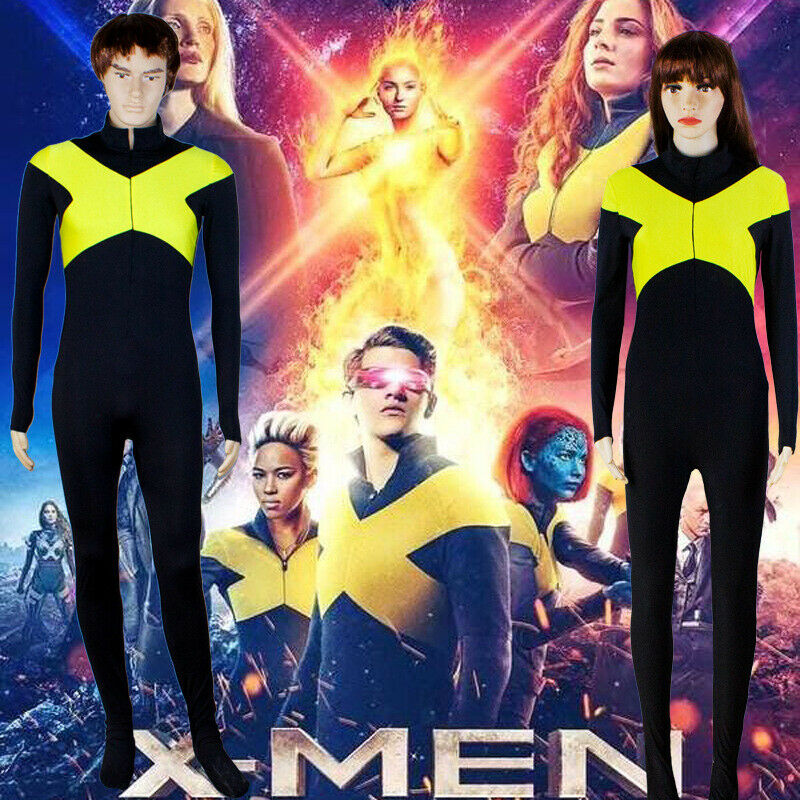 X-Men Dark Phoenix Cosplay Costume Superhero Zentai Suit For Adult and Kids Cos