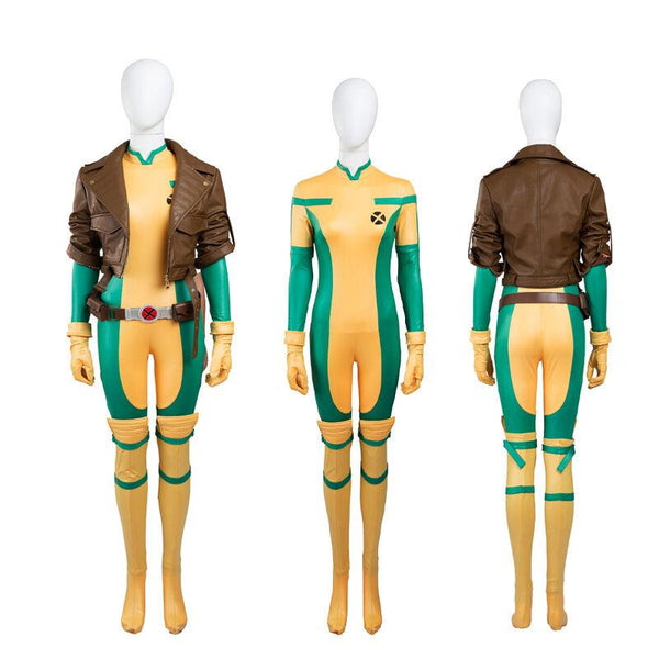 HOT Movie X-Men Rogue Cosplay Costume High Quality Jacket+Jumpsuit Any Size