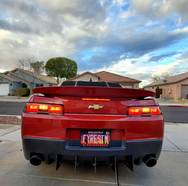 Rear Diffuser Kit V1 Compatible with 14-15 Chevrolet Camaro 5th Gen