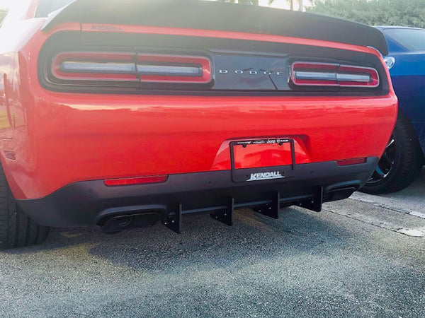 Dodge Challenger Rear Diffuser Kit V3 SXT, RT, Hellcat 2015, 2016, 2017, 2018, 2019