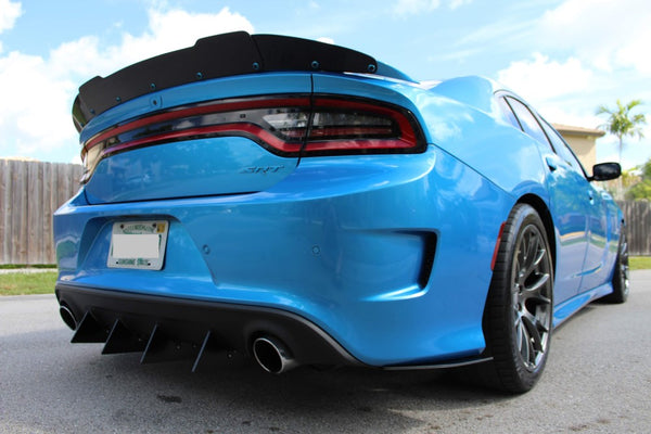 Dodge Charger Rear Diffuser Kit V1 SRT, Hellcat, Scat Pack, Daytona 2017, 2018, 2019