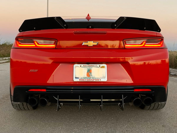Camaro Full Rear Diffuser V7 - 6 Piece Kit SS ZL1 2016 2017 2018 Authority Motorsport