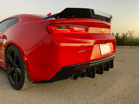 Camaro Full Rear Diffuser V7 - 6 Piece Kit SS ZL1 16-18