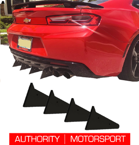 Camaro Rear Diffuser Kit V2 SS ZL1 2016 2017 2018 Authority Motorsport