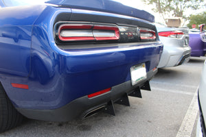 Dodge Challenger Rear Diffuser Kit V2 SXT, RT, SRT, Hellcat 2015, 2016, 2017, 2018, 2019