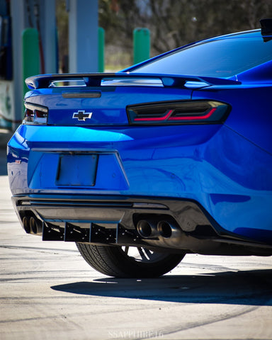 Camaro Full Rear Diffuser V6 - 6 Piece Kit SS ZL1 2016-2018