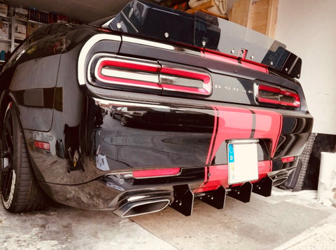 Dodge Challenger Rear Diffuser Kit V1 SXT SRT RT Hellcat 2015 2016 2017 2018 2019 Authority Motorsport