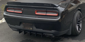Challenger Rear Diffuser Kit 5 Piece V3 SXT SRT RT Hellcat 2015-2020
