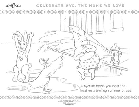 Download a Free Coloring Page: Cool Off During the New York City Summer