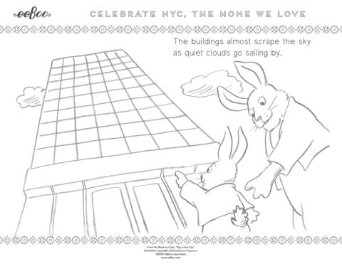 Download a Free Coloring Page: Skyscrapers of New York City