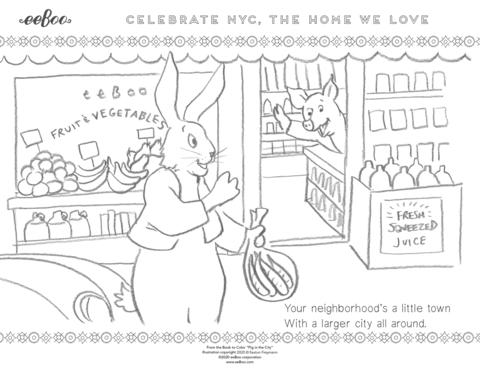 Download a Free Coloring Page: Your Neighborhood in New York City