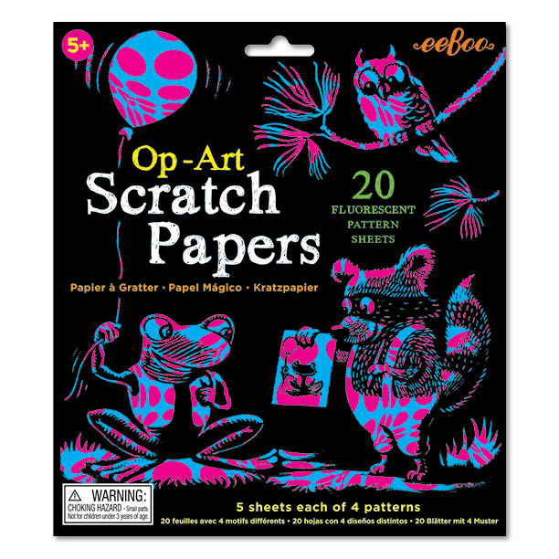 Op-Art Scratch Papers