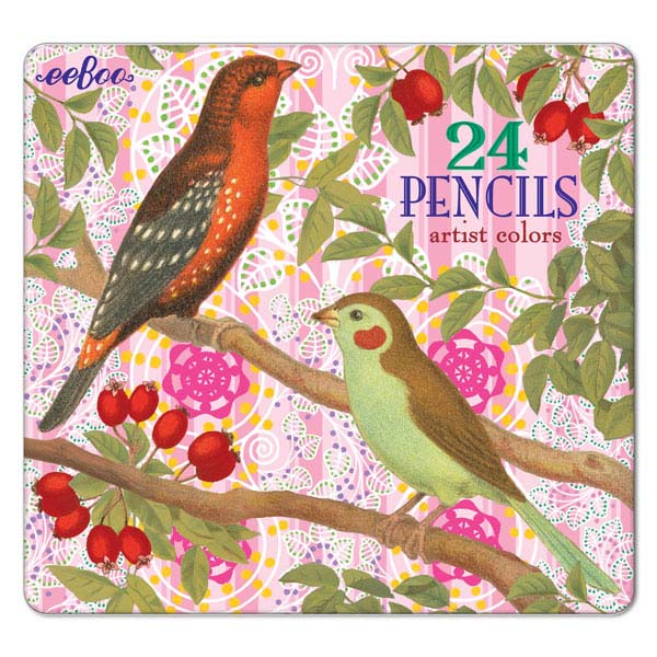 Birds with Berries 24 Pencils
