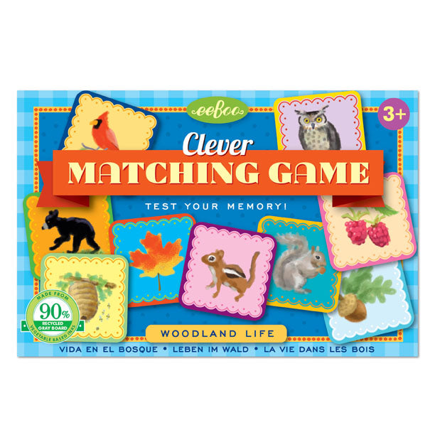 animal and nature matching memory game, travel size toy, for children three and up, preschool games