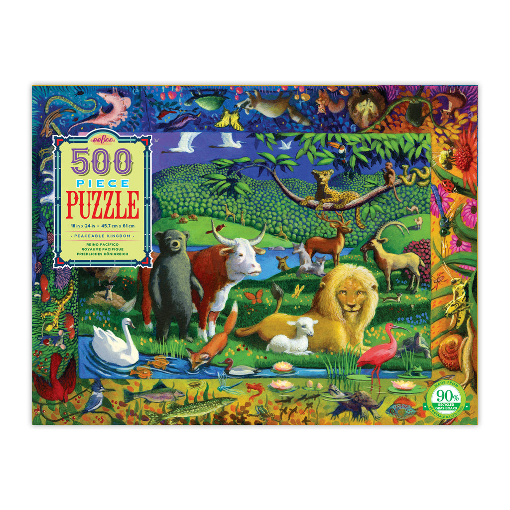 Peaceable Kingdom 500 Piece Rectangle Puzzle