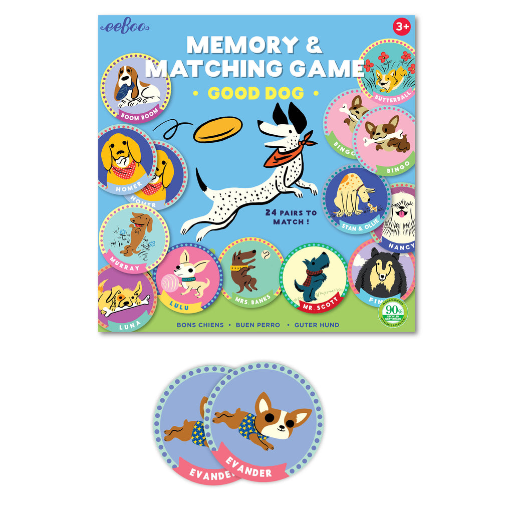 Good Dog Memory & Matching Game
