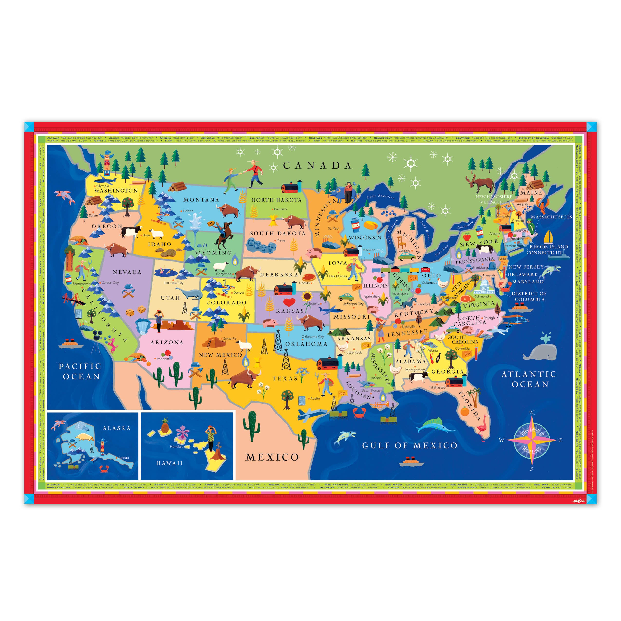 Map Of The United States Map Of The United States.This Land Is Your Land United States Map Eeboo