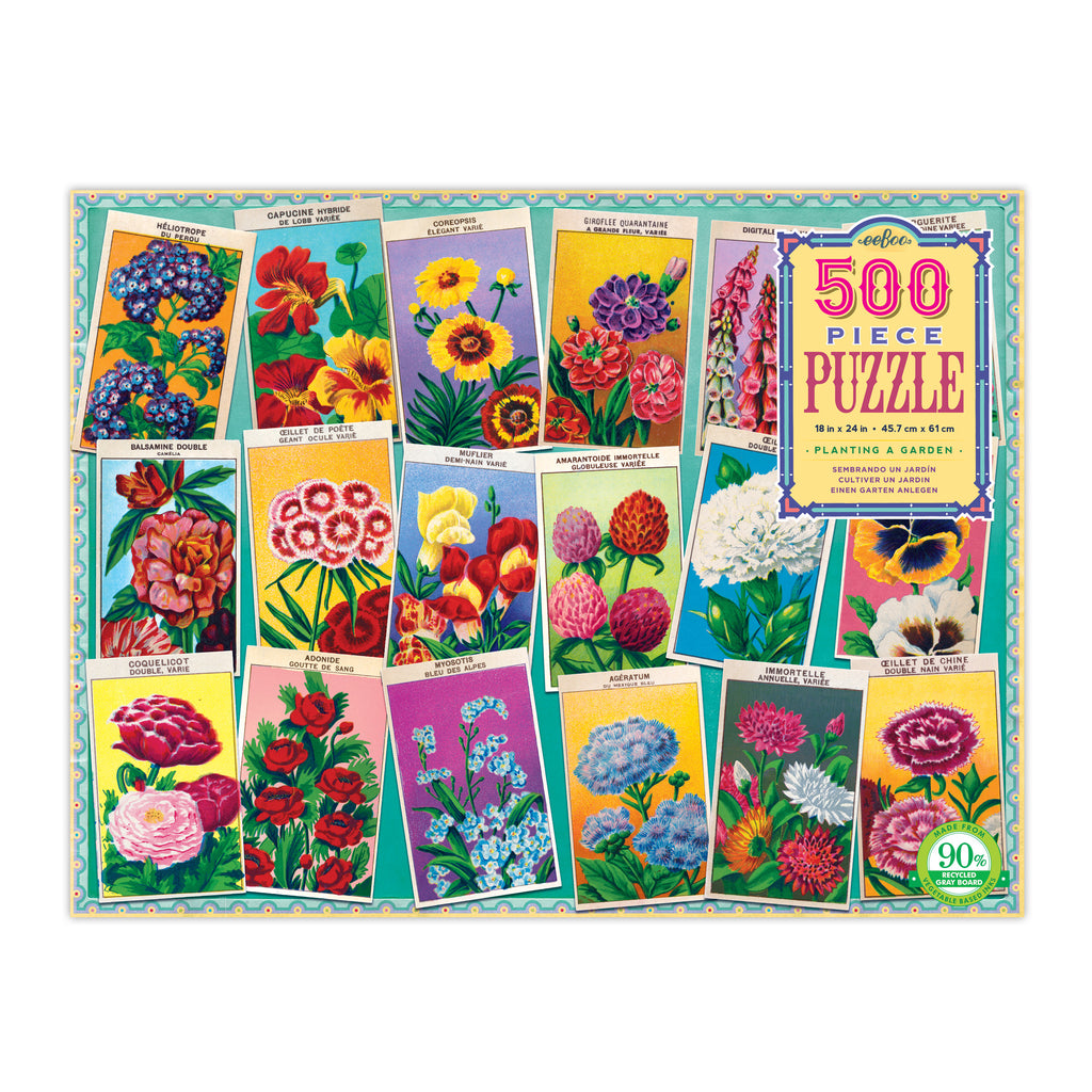 Planting a Garden 500 Piece Rectangle Puzzle