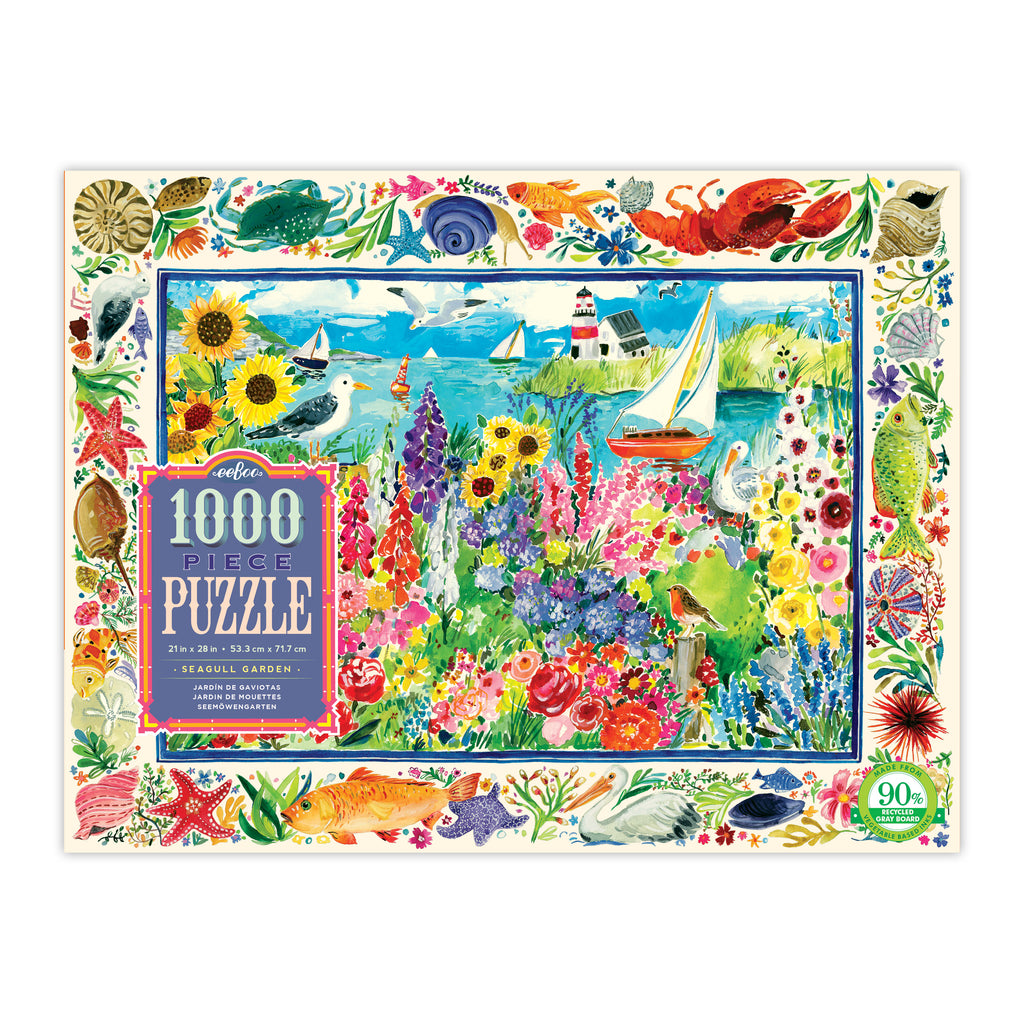 Seagull Garden 1000 Piece Rectangle Puzzle
