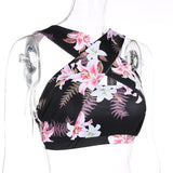 Retro Floral Printed Women's Sports Set