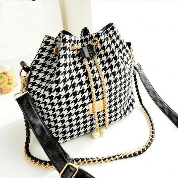 Women's Dog Tooth Check Handbag