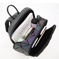 Womens Holographic Luminous Backpack
