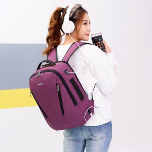 Travel Laptop USB Anti-Theft Backpack