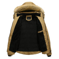 Casual Warm Mens Winter Jacket With  Detachable Hood