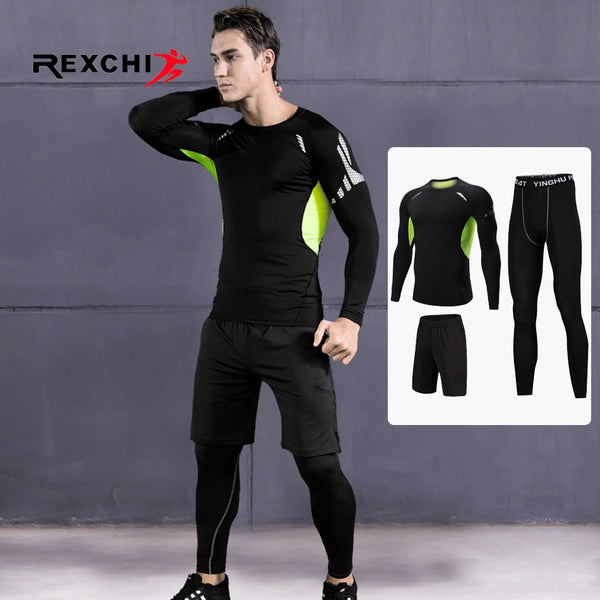 Men's 3 Piece Sports Suit Compression Set