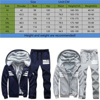 Men's Warm Autumn/Winter Sports Suit
