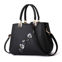 Women's PU Leather Handbag With Floral Design