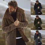 * Woolen Blend Fleece Lined Mens Winter Coat
