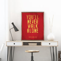 Liverpool FC Motto Vintage Poster Print