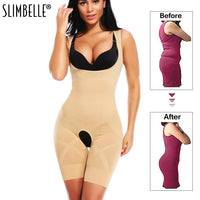 Women Full Bodysuit Waist Cincher Shapewear