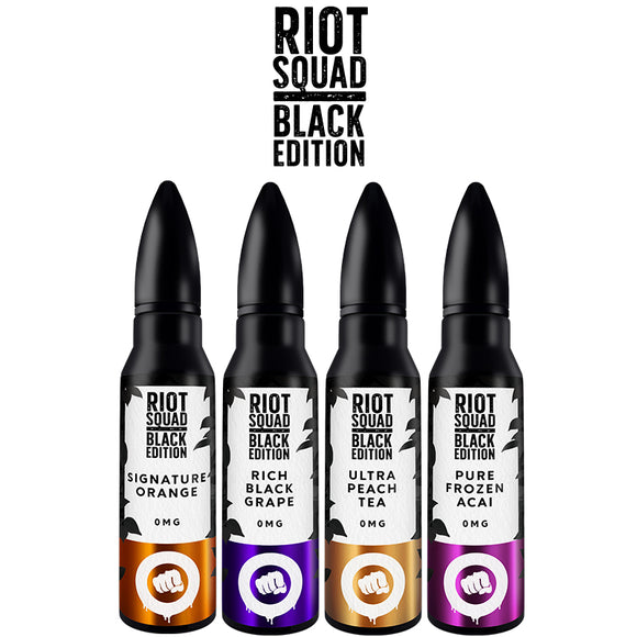 Riot Squad Black Edition 50ml 0mg Shortfill (70/30 VG/PG)
