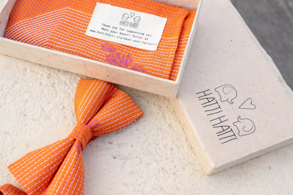 Bow Tie - Bright Orange - MuniMuni