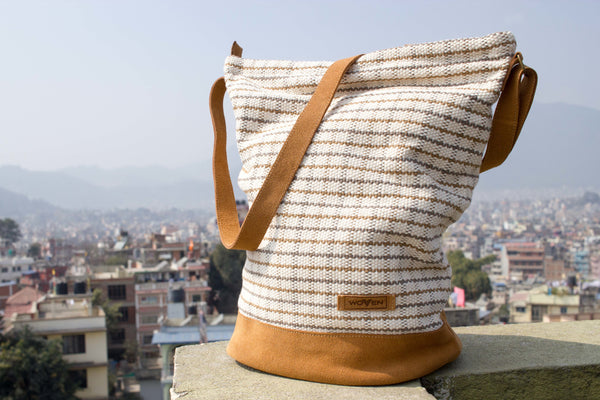 Daily bag - Brown/ Grey Check Pattern - MuniMuni