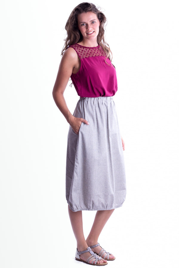 Drichu  - Skirt - Light Grey