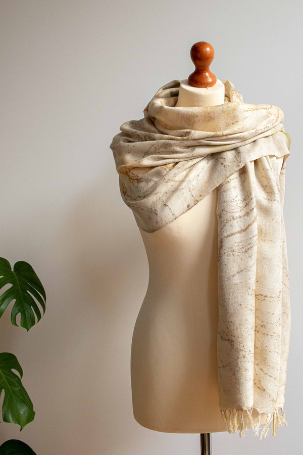 Eco-Printed Silk Leaf Scarf - Spickles - MuniMuni