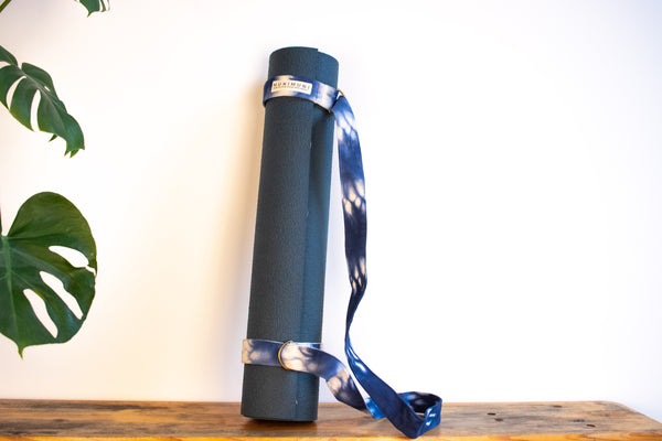 Tie Dye Yoga Carry Strap - Indigo Raindrop - MuniMuni