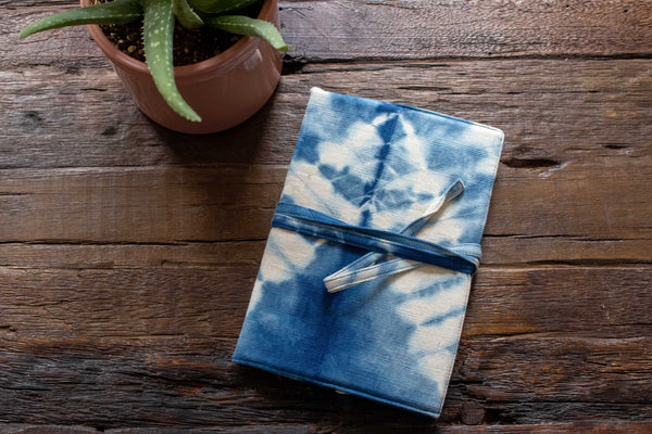 Tie Dye Refillable Notebook - Indigo ZigZag - MuniMuni