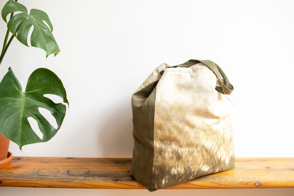 Tie Dye Tote Bag - Raindrop Green - MuniMuni