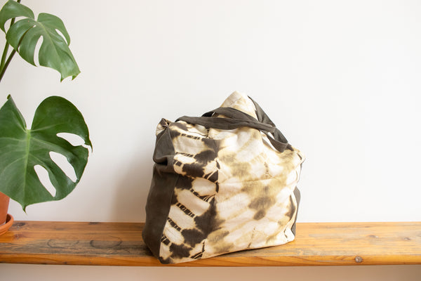 Tie Dye Tote Bag - ZigZag Green - MuniMuni
