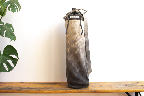 Tie Dye Yoga Mat Bag - Raindrop Gray/Green - MuniMuni