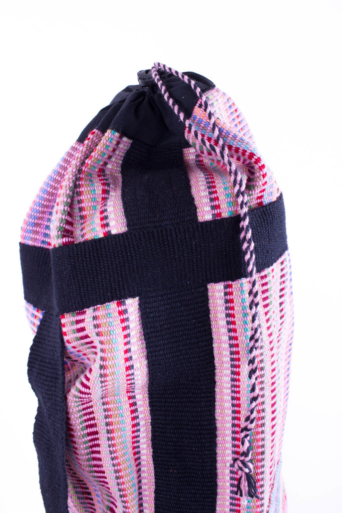 Fair Trade Yoga Bag - Pink Recycle Pattern - MuniMuni