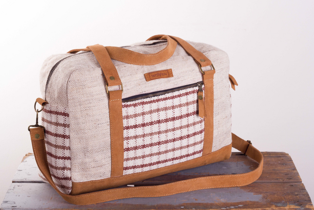 Handbag - Brown Check Pattern - MuniMuni