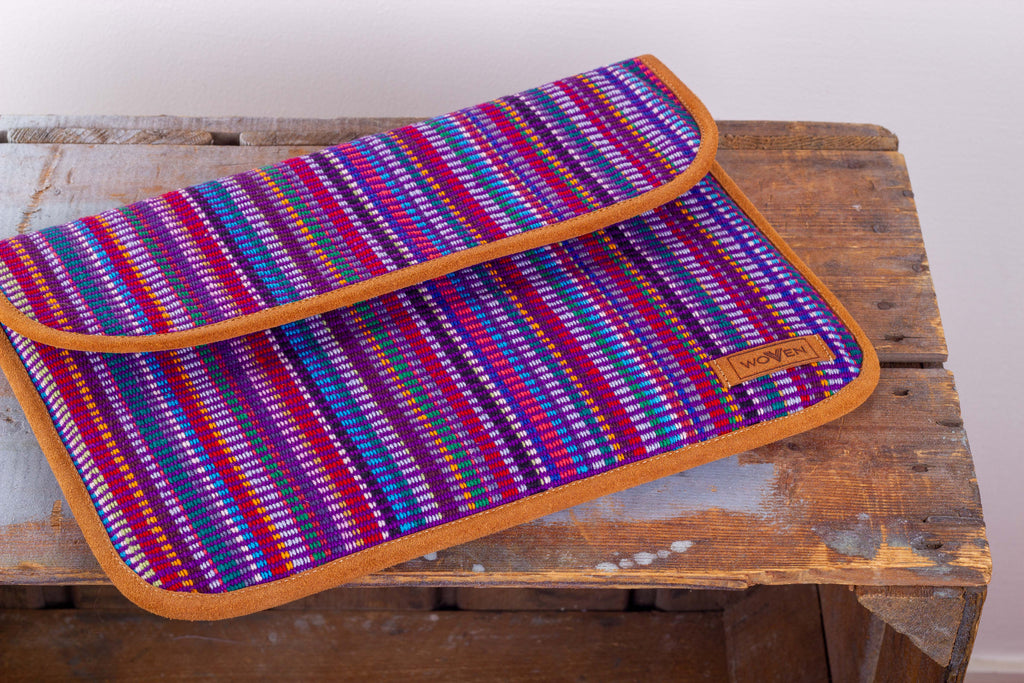 Laptop Sleeve - Purple Recycle Pattern - MuniMuni
